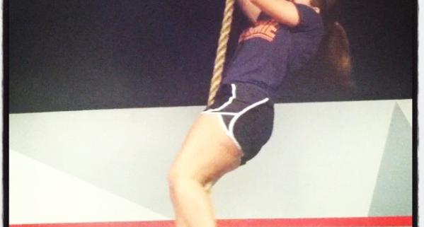 Muncie CossFit Member Rope Climb