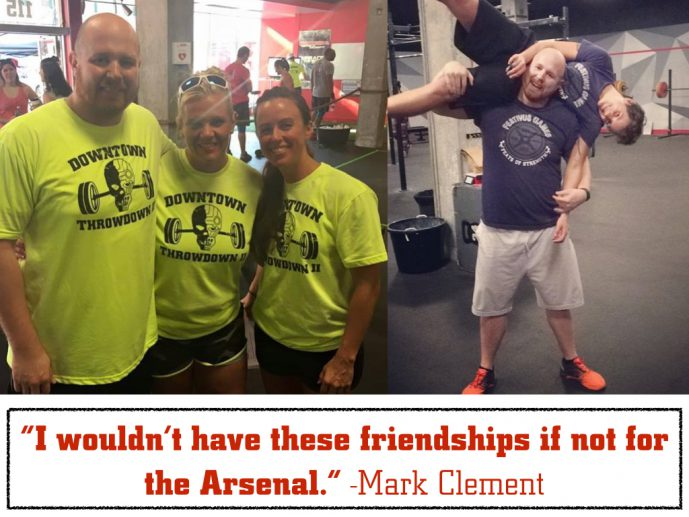 I wouldn't have these friendships if not for The Arsenal - Mark Clement
