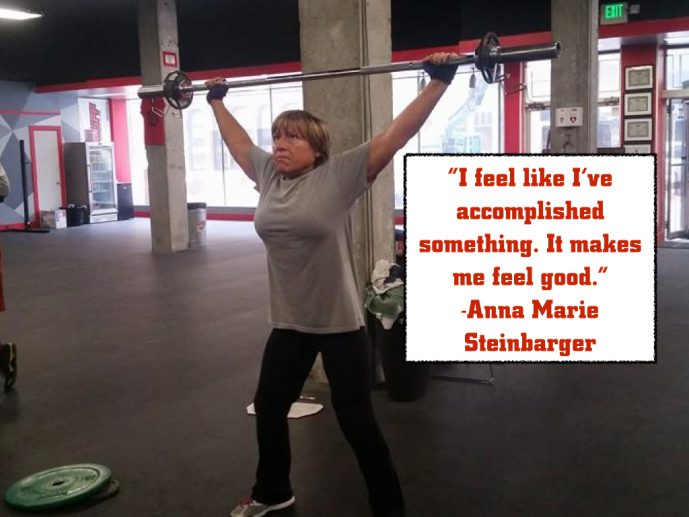 I feel like I've accomplished something. It makes me feel good. - Anna Marie Steinbarger